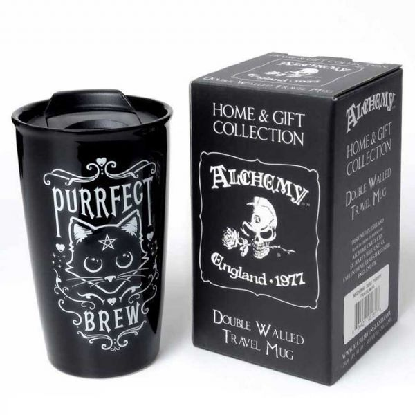 ALCHEMY GOTHIC Purrfect Brew Double Walled Travel Mug